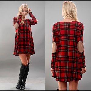 🎉Red & Black Plaid Dress Sz small
